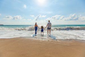 Rodzina na morzem