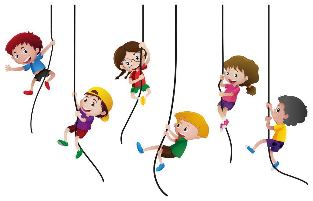 grafika tla - dzieci na linie